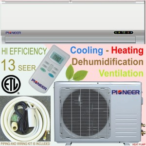Pioneer 9,000 BTU 13 SEER Ductless Mini-Split AC with Heat