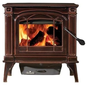 Napoleon 1100c Wood Burning Stove - Majolica Brown